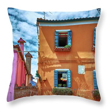 A Fragment Of Color Throw Pillow