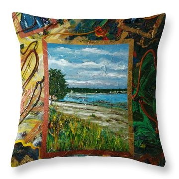 A Framed Landscape Throw Pillow