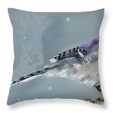 Throw Pillow featuring the digital art A Friend For Lunch Three by Darren Cannell