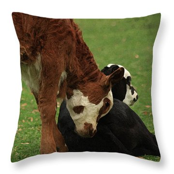 Throw Pillow featuring the digital art A Friend Indeed by Kim Henderson