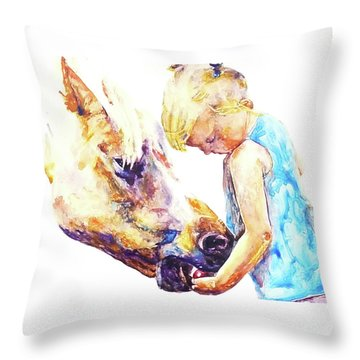 A Friendly Bribe Throw Pillow