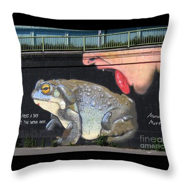 A Frog A Day Keeps The Doctor Away Throw Pillow