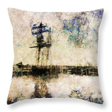 Throw Pillow featuring the photograph A Gallant Ship by Claire Bull
