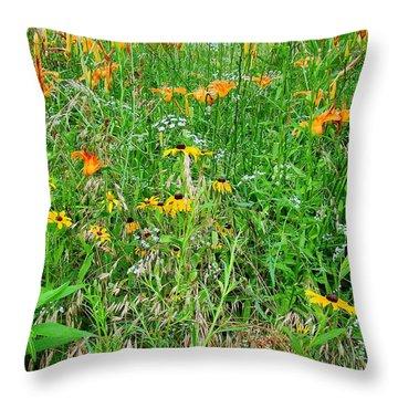 A Garden In My Ditch Throw Pillow