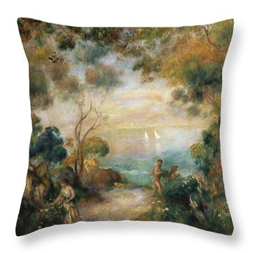 A Garden In Sorrento Throw Pillow