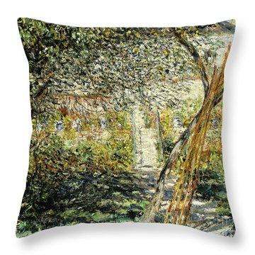 A Garden In Vetheuil Throw Pillow