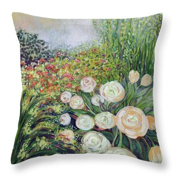 A Garden Romance Throw Pillow