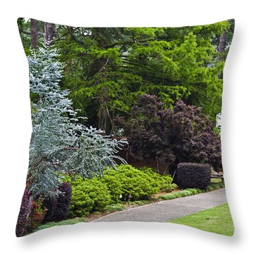 A Garden Walk Throw Pillow