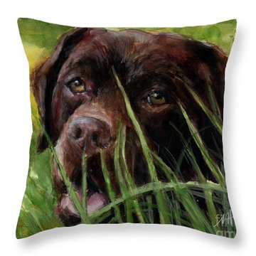 A Gardener's Friend Throw Pillow by Molly Poole