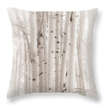 A Gathering Throw Pillow by The Forests Edge Photography - Diane Sandoval
