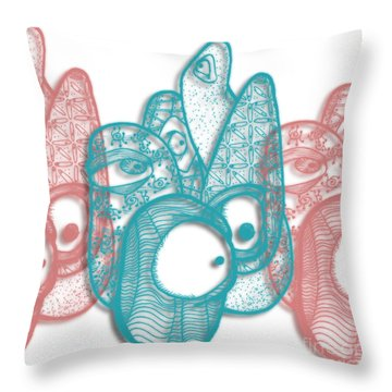 A Gathering Throw Pillow