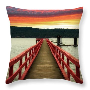 A Gentle Evening Throw Pillow