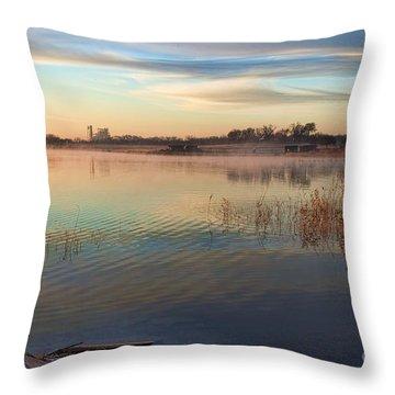 A Gentle Morning Throw Pillow
