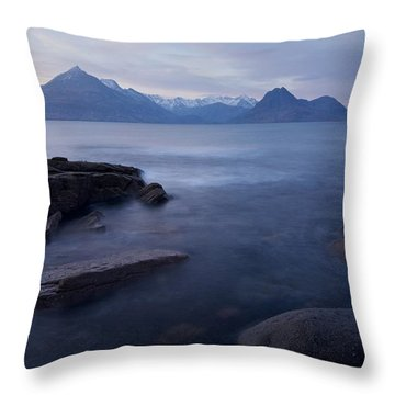 A Gentle Sunset At Elgol  Throw Pillow
