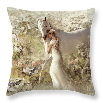 Throw Pillow featuring the digital art A Gentle Touch by Melinda Hughes-Berland