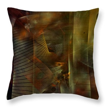 Throw Pillow featuring the digital art A Ghost In The Machine by NirvanaBlues