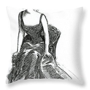 A Gibson Girl, C1902 Litho Throw Pillow