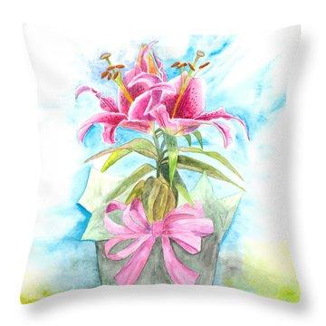 A Gift Throw Pillow