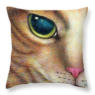 A Ginger Cat Face Throw Pillow