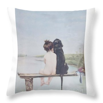 Bathing Beauties By Bruno Piglhein Throw Pillow