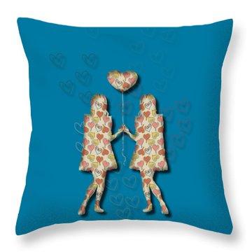 A Girl Loves A Girl Throw Pillow