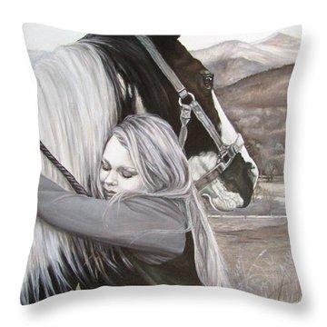 A Girls Best Friend Throw Pillow