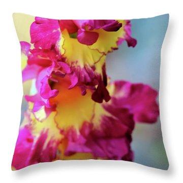 A Gladiolus 3 Throw Pillow
