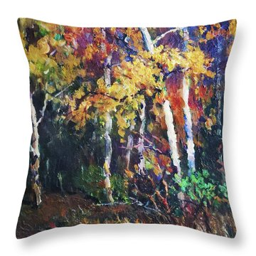 A Glance Of The Woods Throw Pillow