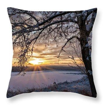 A Glenmore Sunset Throw Pillow