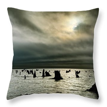 A Glimer Of Light Throw Pillow by Robert Charity