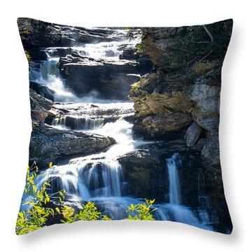 Cullasaja Falls Throw Pillows