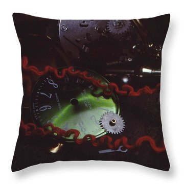 A Glitch In Time Throw Pillow