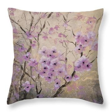A Glow Throw Pillow by Laura Lee Zanghetti