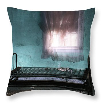 A Glow Where She Slept Throw Pillow