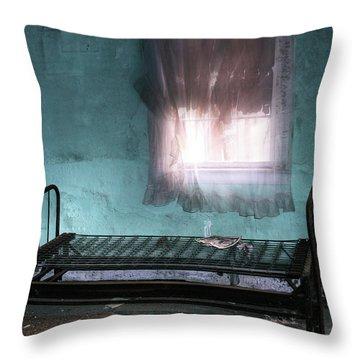 A Glow Where She Slept Throw Pillow