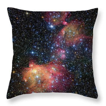 Throw Pillow featuring the photograph A Glowing Gas Cloud In The Large Magellanic Cloud by Eso
