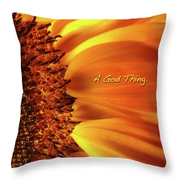 A God Thing-2 Throw Pillow