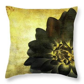 A Golden Heart Throw Pillow