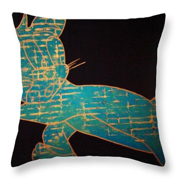 A Golden Touch Throw Pillow