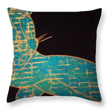 A Golden Touch Throw Pillow