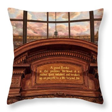 Throw Pillow featuring the photograph A Good Book by Jessica Jenney