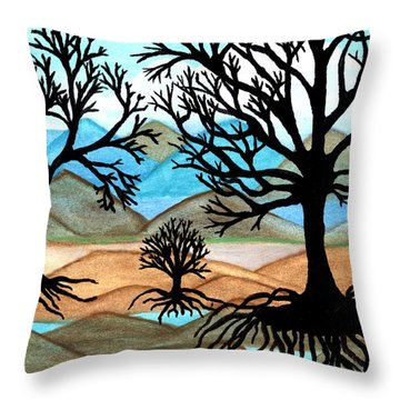A Good Foundation Throw Pillow by Connie Valasco
