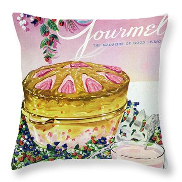 A Gourmet Cover Of A Souffle Throw Pillow