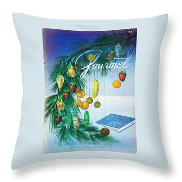 A Gourmet Cover Of Marzipan Fruit Throw Pillow