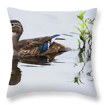 A Graceful Swim Throw Pillow