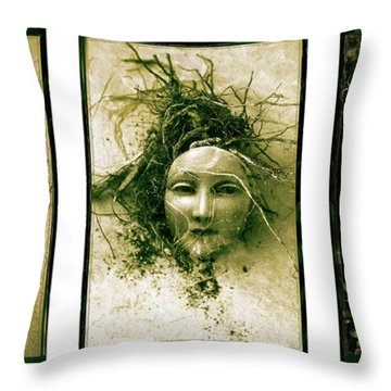 A Graft In Winter Triptych Throw Pillow