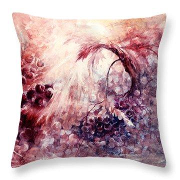 A Grape Fairy Tale Throw Pillow by Rachel Christine Nowicki
