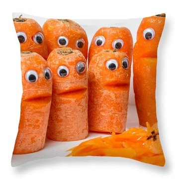 Throw Pillow featuring the photograph A Grate Carrot 2. by Gary Gillette