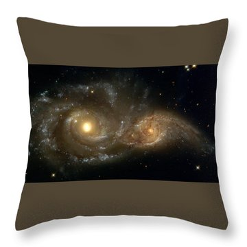 A Grazing Encounter Between Two Spiral Galaxies Throw Pillow