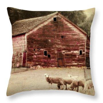 A Grazy Day Throw Pillow by Julie Hamilton